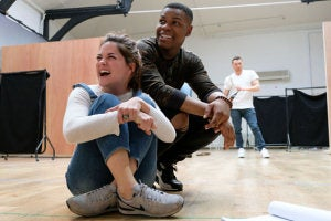 First look at John Boyega in rehearsals for Woyzeck at the Old Vic